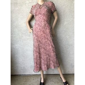 VINTAGE | midi dress with empire waist and sleeves